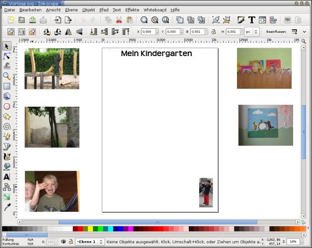 Workshop mit Vorschulkindern »Malen und gestalten mit dem Computer«